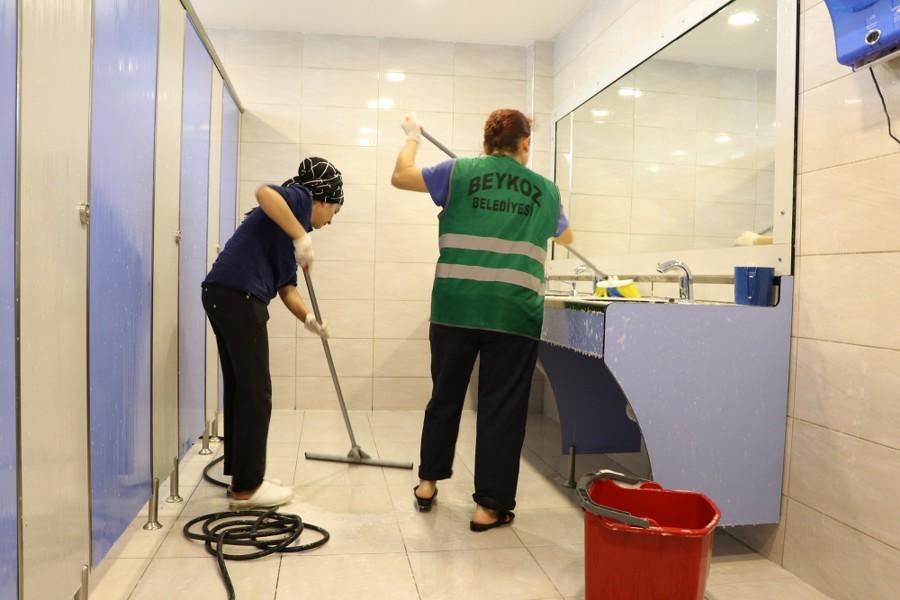 Beykoz'da Okul lavaboları pırıl pırıl