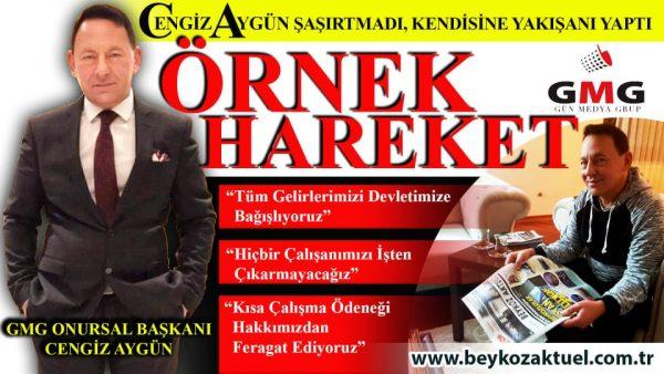 GMG Onursal Başkanı Cengiz Aygün: Tüm gelirlerimizi Devletimize bağışlıyoruz