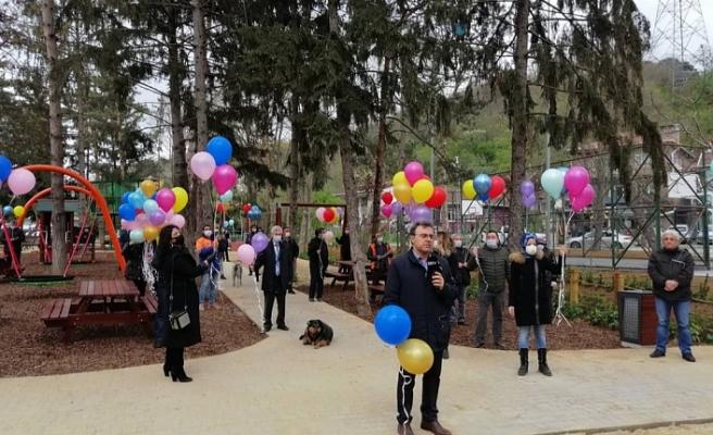 23 Nisan çocuk parkı açıldı