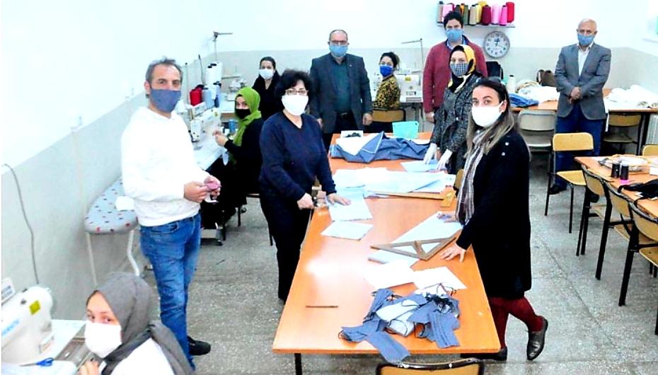 Beykoz'da müjdeli haber: Maske üretimi başladı!