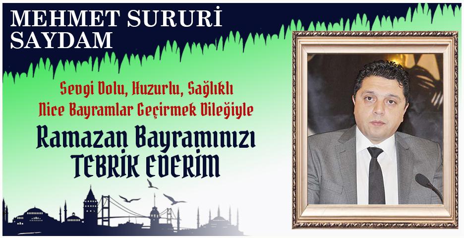 İstanbul İl Emniyet Müdür Yardımcısı Sururi Saydam'dan Bayram tebriği
