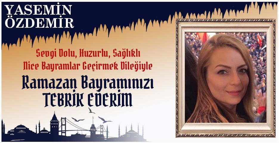 Yasemin Özdemir'den Bayram tebriği