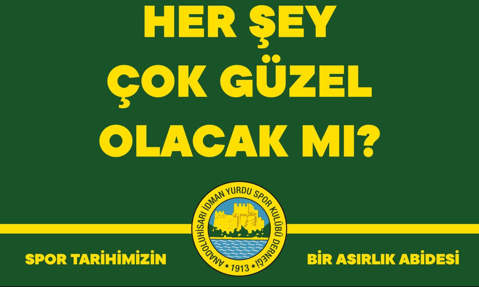 Anadoluhisarı'ndan sitem dolu cümleler!