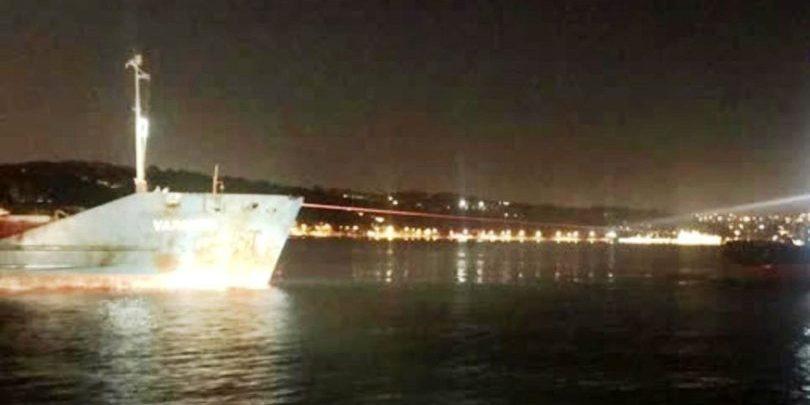 Beykoz açıklarında sürüklenen kuru yük gemisi kurtarıldı