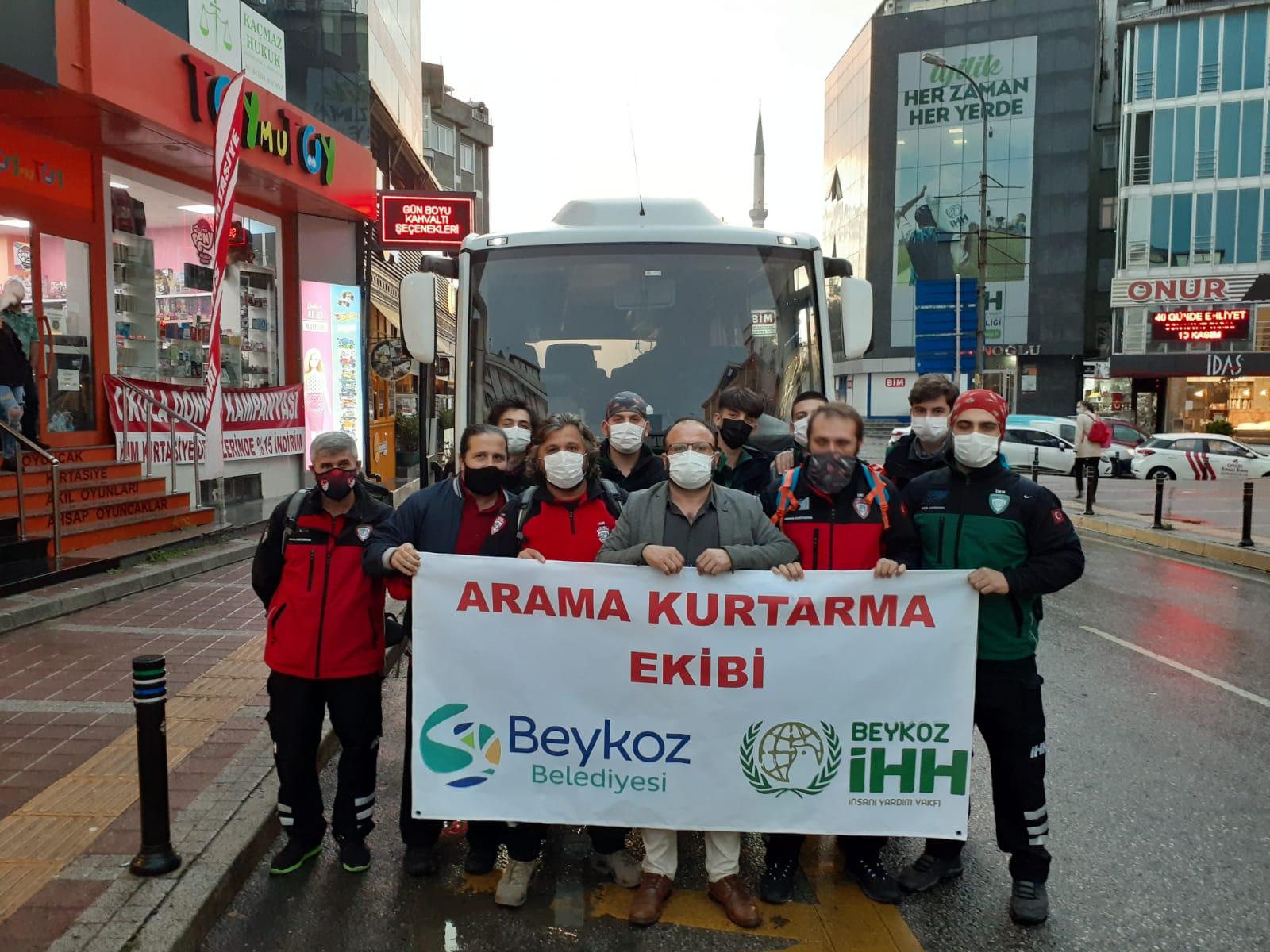 Beykoz'dan İzmir'e harekete geçtiler