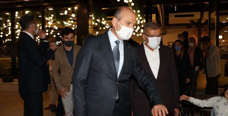 Bakan Süleyman Soylu'ya Beykoz'da yoğun ilgi