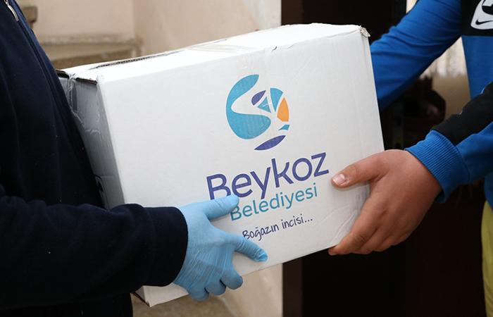 Beykoz Belediyesi karantinadaki aileleri unutmadı