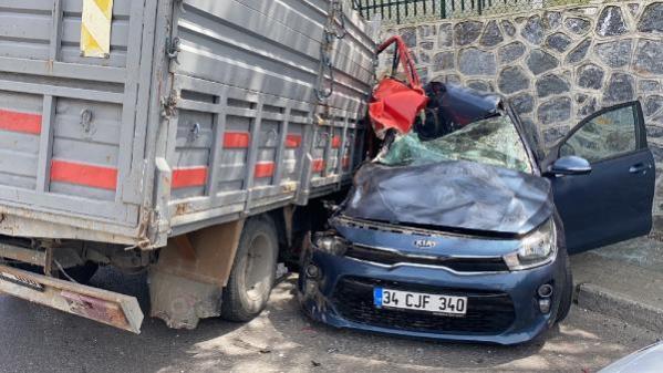 Polonezköy yolunda feci kaza