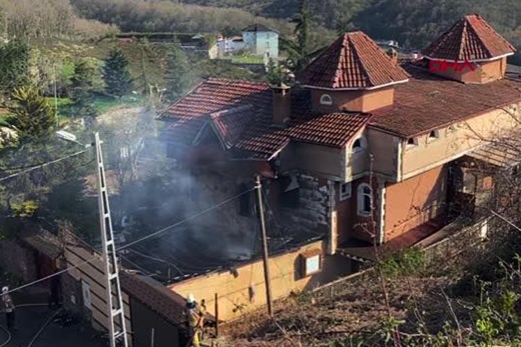 Beykoz Çavuşbaşı'nda korkutan villa yangını