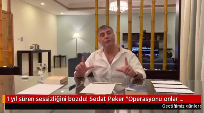 Sedat Peker Mehmet Ağar ve Pelikan'a yüklendi
