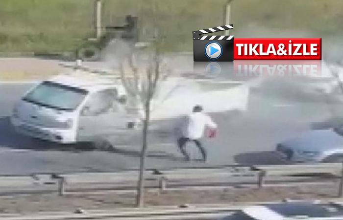 Beykoz'da yol verme kavgası: Yangın tüpüyle saldırdı