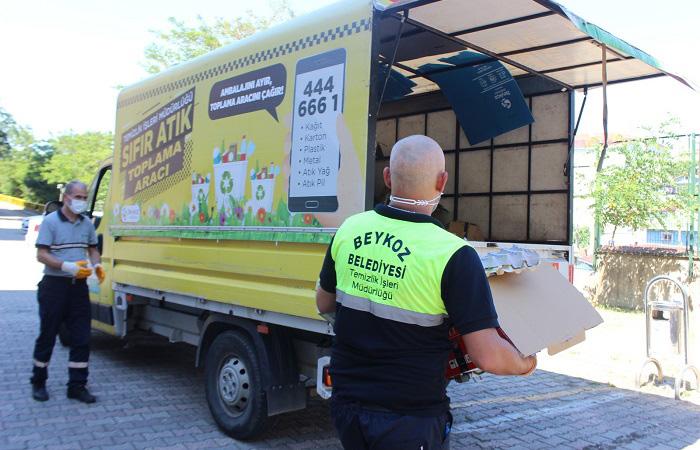 Beykoz'da 2 bin ton atık geri dönüştürüldü
