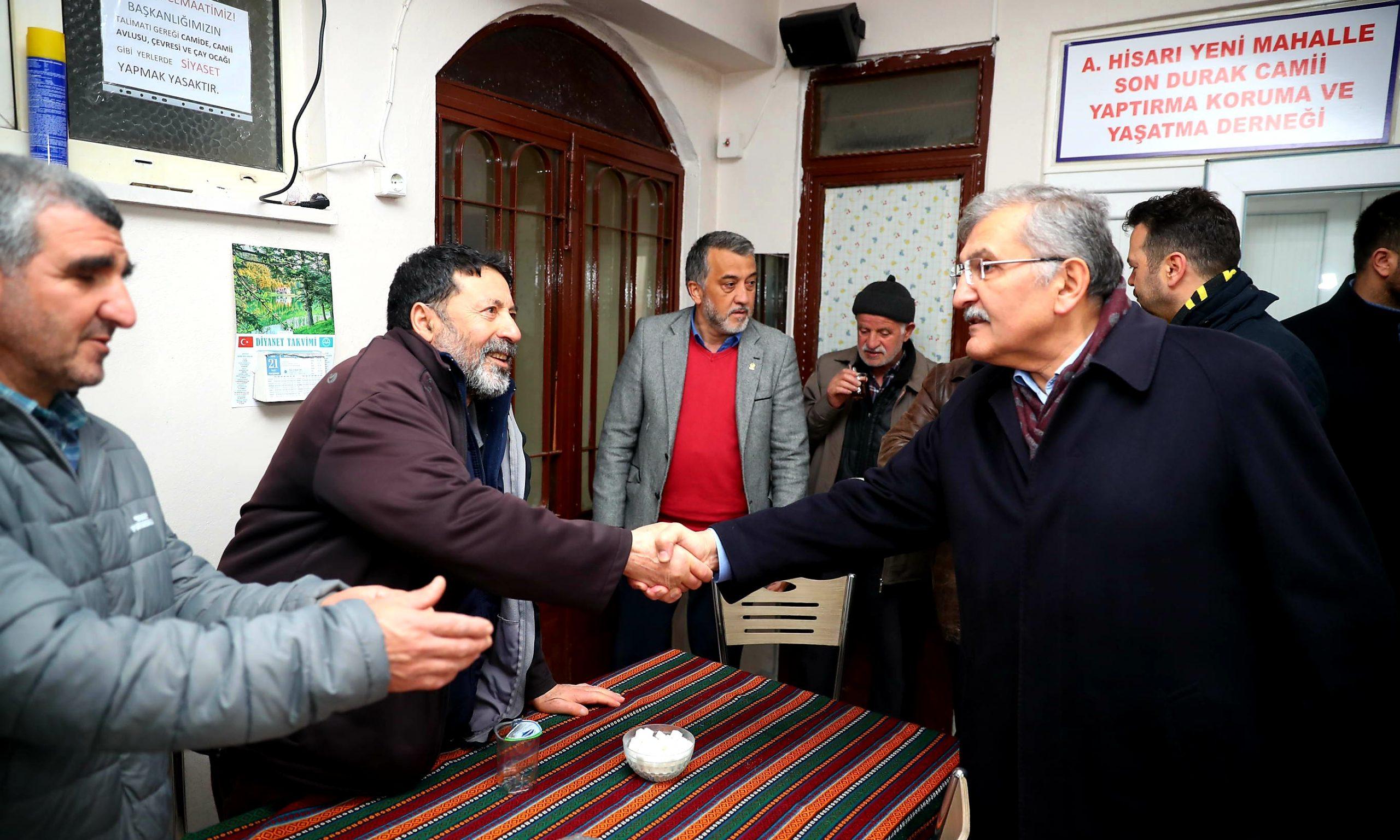 Başkan Murat Aydın'dan Yenimahalle'de sarı alan mesaisi