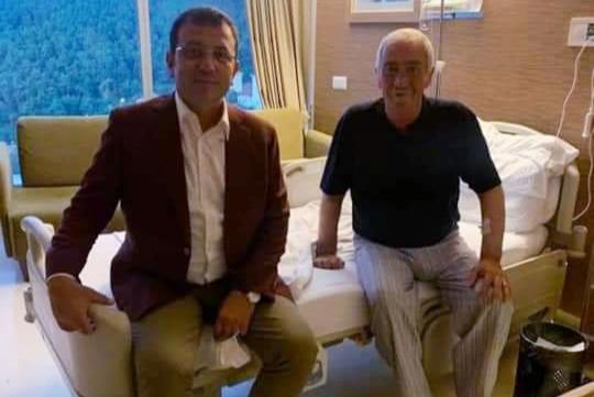 Ekrem İmamoğlu'ndan Aydın Düzgün'e Hastanede ziyaret