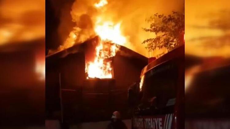 Beykoz'da korkutan yangın: Gece yarısı başladı!